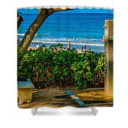 Beach Shower Shower Curtain