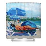 Beach Siesta Shower Curtain