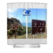 Beach Signs San Clemente Shower Curtain