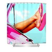 Beach Slippers - Summer Time Serie Shower Curtain