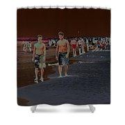 Beach Solar Series Vii Usa Shower Curtain
