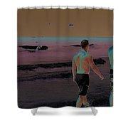 Beach Solar Series Xi Woman Swimming Usa Shower Curtain