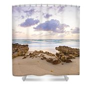 Beach Sunrise At Jupiter Island Florida Shower Curtain