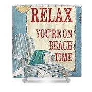 Beach Time 1 Shower Curtain