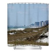 Beach To City Shower Curtain