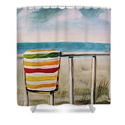 Beach Towel Shower Curtain