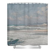 Beach Triptych 1 Shower Curtain