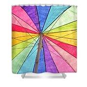 Beach Umbrella 2 Shower Curtain