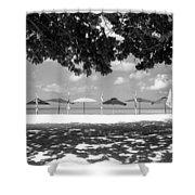 Beach Umbrellas Shower Curtain