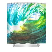 Beach View From Wave Barrel Shower Curtain