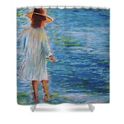 Beach Walker Shower Curtain