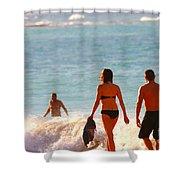 Beach Walkers Shower Curtain
