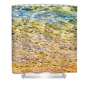 Beach Water Abstract Shower Curtain