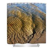 Beach Wave Pattern. Shower Curtain