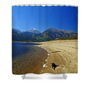 Beach With Altitude Shower Curtain