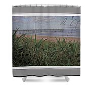Beach Writing Shower Curtain