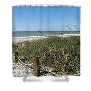 Beachaccess Shower Curtain