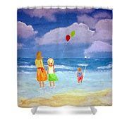 Beachbaloons Shower Curtain
