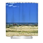 Beachouses As Seen From Jockey's Ridge State Park Shower Curtain