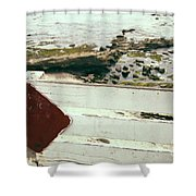 Beachside Warning Horizontal Color Shower Curtain