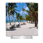 Beachy Belize Shower Curtain