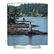 Beacon At Snug Cove Shower Curtain