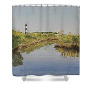 Beacon On The Marsh Shower Curtain