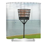 Beacon On Yarmouth Common Shower Curtain