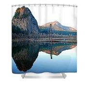 Beacon Rock Reflecions Shower Curtain