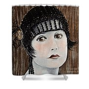 Beaded Flapper Hat Shower Curtain