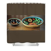 Beaded Indian Baskets Shower Curtain