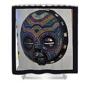 Handbeaded Mask Mexico Shower Curtain