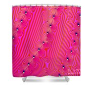 Beaded Pink Shower Curtain