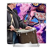 Beads And Feathers At Mardi Gras Shower Curtain