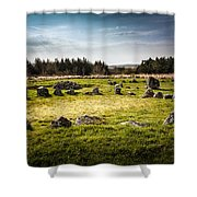 Beaghmore Stone Circles Shower Curtain