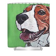 Beagle Timo Shower Curtain