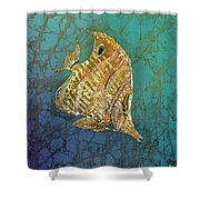 Beaked Butterflyfish Shower Curtain