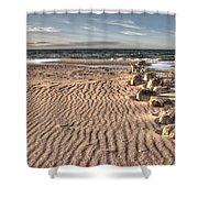 Bealtic Beach Shower Curtain