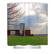 Beam From Above Shower Curtain