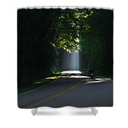 Beam Me Up The Great Smoky Mountains Shower Curtain