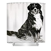 Beaming Berner Shower Curtain