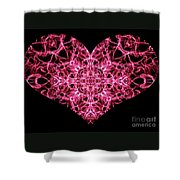 Beaming Heart Shower Curtain
