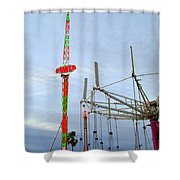 Beams And Strings Shower Curtain