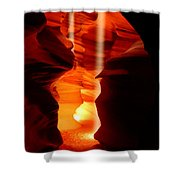 Beams Of Light In Antelope Canyon Shower Curtain