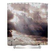 Beams Of Light Shower Curtain