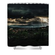 Beams Of Light Over Florence Shower Curtain