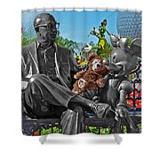 Bear And His Mentors Walt Disney World 03 Shower Curtain