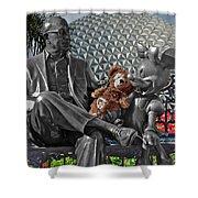 Bear And His Mentors Walt Disney World 04 Shower Curtain