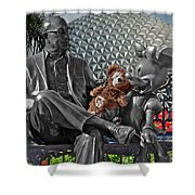 Bear And His Mentors Walt Disney World 04 Shower Curtain