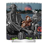Bear And His Mentors Walt Disney World 05 Shower Curtain